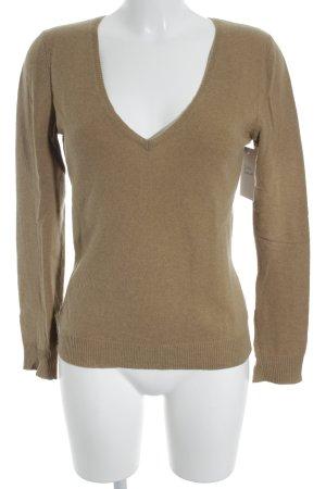 Closed V-Ausschnitt-Pullover sandbraun Casual-Look