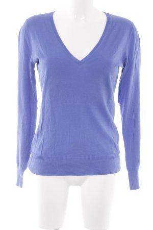 Closed V-Ausschnitt-Pullover stahlblau Casual-Look