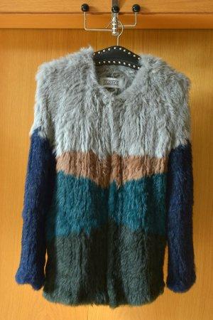 Closed Veste de fourrure multicolore laine angora