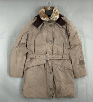 Closed Parka grey brown cotton