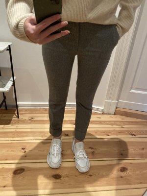 Closed Pantalone di lana marrone-grigio-grigio Lana