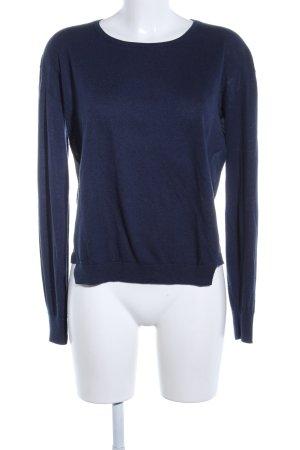 Closed Wełniany sweter niebieski W stylu biznesowym