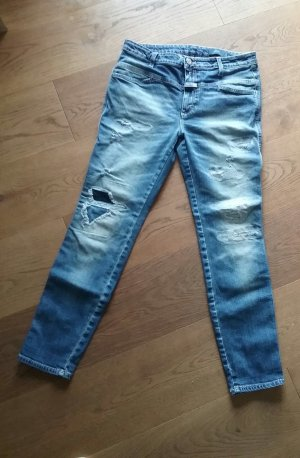 Closed Tube Jeans neon blue cotton