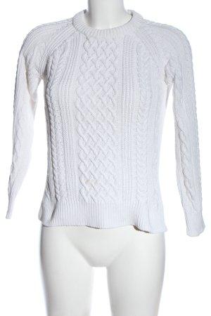 Closed Warkoczowy sweter biały Warkoczowy wzór W stylu casual