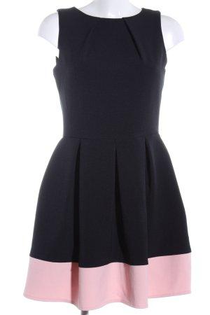 Closet A-Linien Kleid schwarz-pink Elegant