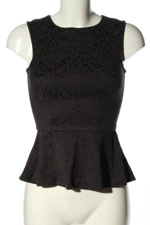Closet Blusa nero motivo astratto stile professionale