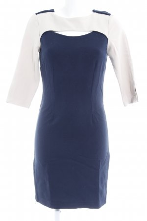 Closet Cut Out Dress dark blue-cream