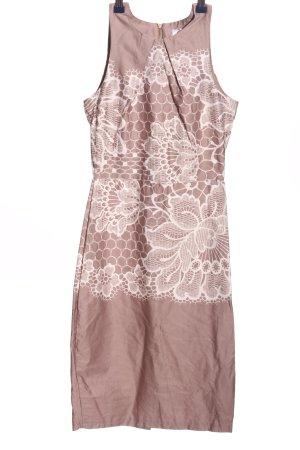 Closet Abito aderente rosa-bianco sporco motivo floreale elegante