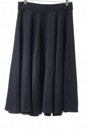 Closet Plaid Skirt dark blue party style