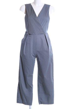 Closet Jumpsuit blau-weiß Streifenmuster Casual-Look