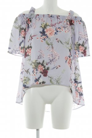 Closet Kurzarm-Bluse florales Muster Casual-Look