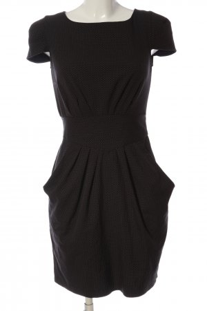 Closet Kurzarmkleid schwarz-weiß Punktemuster Casual-Look