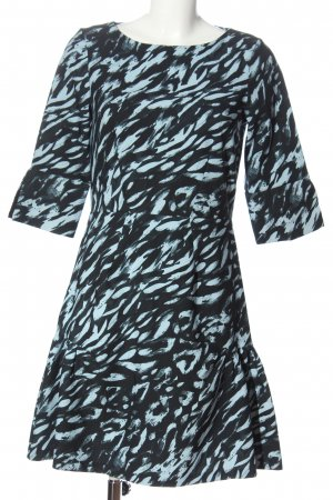 Closet Langarmkleid schwarz-blau Allover-Druck Casual-Look