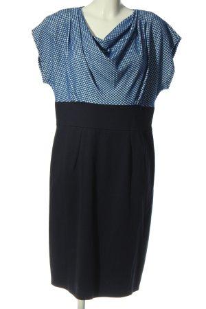 Closet London Shortsleeve Dress blue spot pattern business style
