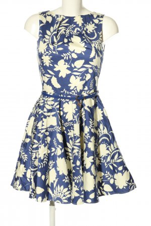Closet Midikleid blau-wollweiß Blumenmuster Casual-Look