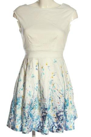 Closet Minikleid weiß-blau Blumenmuster Elegant