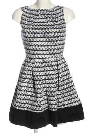 Closet Minikleid schwarz-weiß Motivdruck Elegant