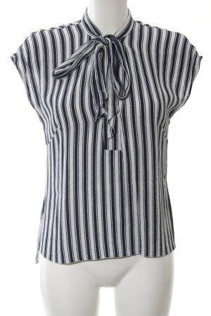 Closet Schlupf-Bluse weiß-schwarz Streifenmuster Business-Look