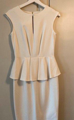 Closet Peplum Dress white-natural white polyester