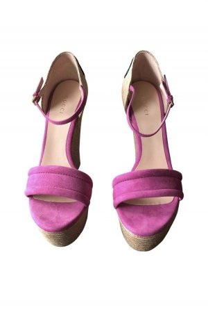 Cloth Espadrilles Gucci wedges