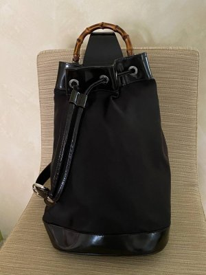 Cloth-Leather Bamboo Bag GUCCI