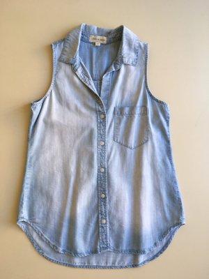 cloth & stone Sleeveless Blouse azure lyocell