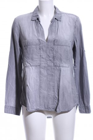 cloth & stone Jeansbluse hellgrau Casual-Look