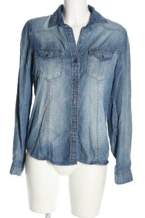 cloth & stone Camicia denim blu stile casual