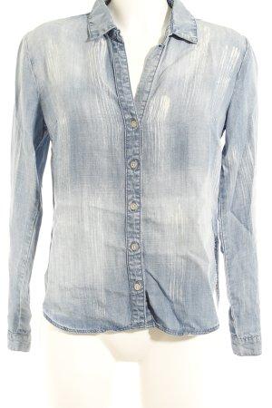 cloth & stone Jeanshemd himmelblau-weiß Casual-Look