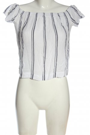 cloth & stone Short Sleeved Blouse white-light grey striped pattern casual look