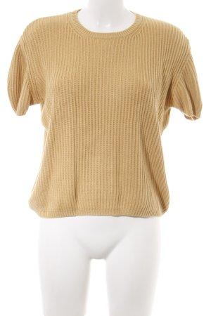 Clothcraft Kurzarmpullover blassgelb Casual-Look