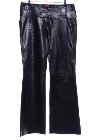 Clothcraft Lederhose schwarz Glanz-Optik