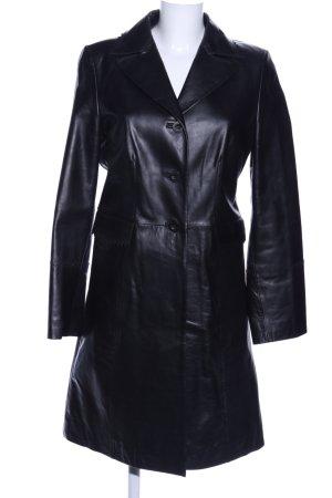 Clothcraft Ledermantel schwarz Casual-Look