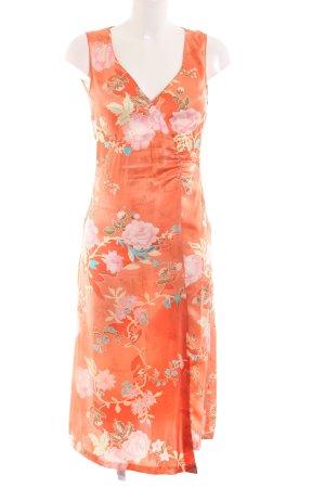 Clothcraft Maxikleid hellorange Blumenmuster Elegant