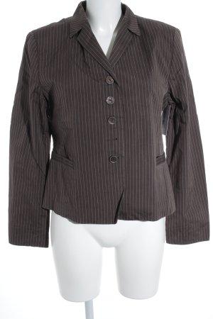 Clothcraft Smoking-Blazer graubraun-weiß Streifenmuster Business-Look