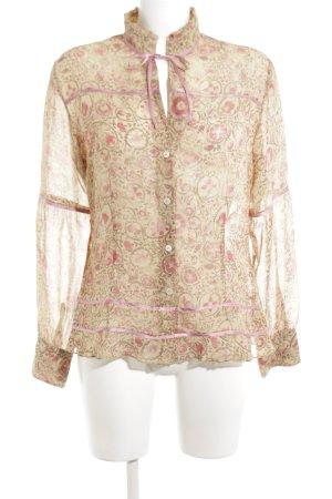 Clothcraft Transparenz-Bluse Blumenmuster klassischer Stil