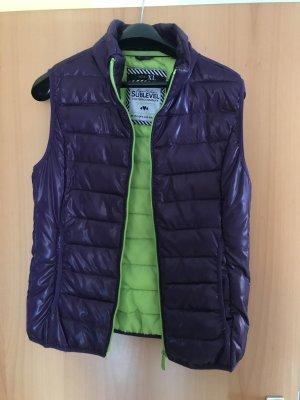 Sublevel Pikowana kamizelka ciemny fiolet-zielony neonowy