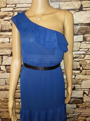 Orsay One Shoulder Dress blue mixture fibre