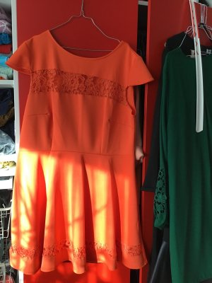 Club L A Line Dress orange synthetic fibre