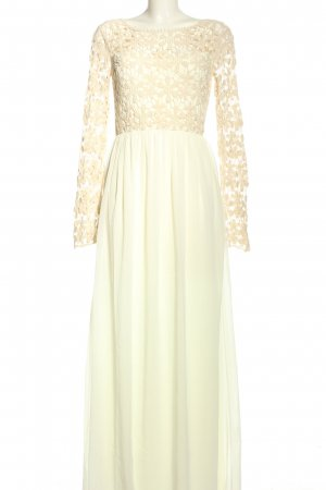 Club L Evening Dress cream-natural white flower pattern elegant