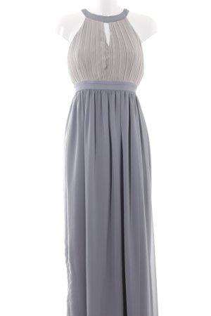 Club L Abendkleid graugrün Colourblocking Elegant