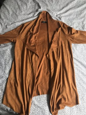 Club L Faux Leather Jacket cognac-coloured