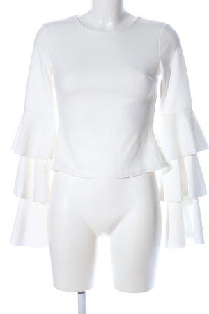 Club L Langarm-Bluse weiß Elegant