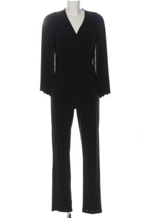 Club L Langer Jumpsuit schwarz Business-Look