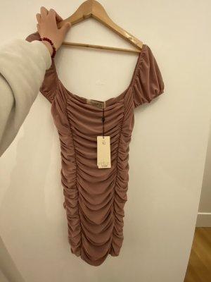 Club L London Mini Dress rose-gold-coloured polyester