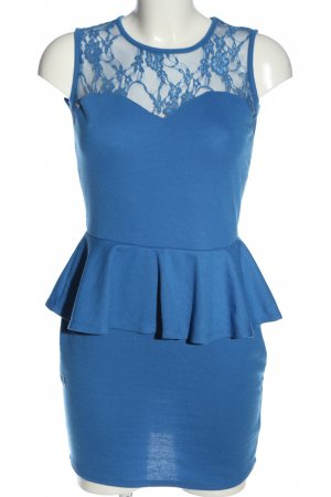 Club L Minikleid blau Webmuster Casual-Look