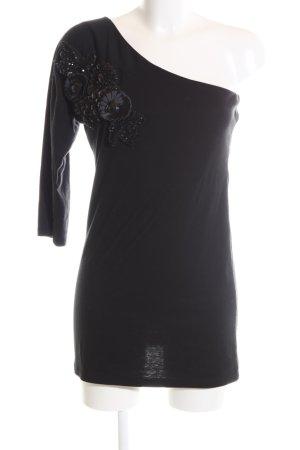 Club L One-Shoulder-Shirt schwarz Elegant
