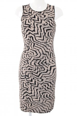 Club L Stretch Dress black-natural white abstract pattern casual look