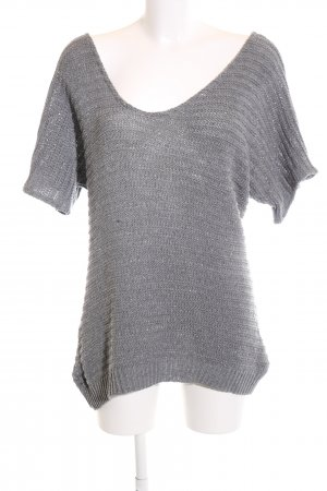 Club L Knitted Sweater light grey casual look