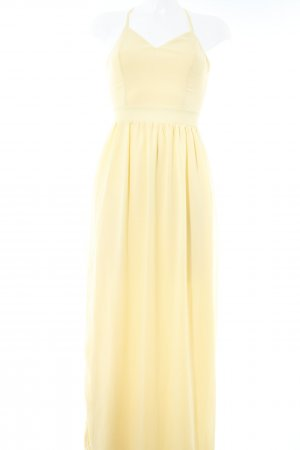 Club L Pinafore dress pale yellow casual look